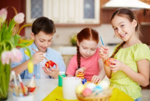 non-sugar easter gift ideas for kids painting easter eggs